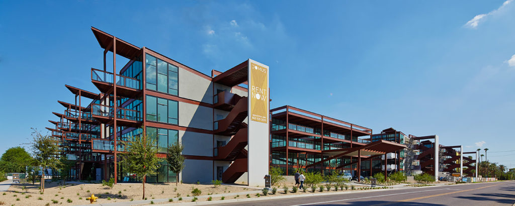Phoenix Arizona Commercial Window Cleaning at Domus Apartments