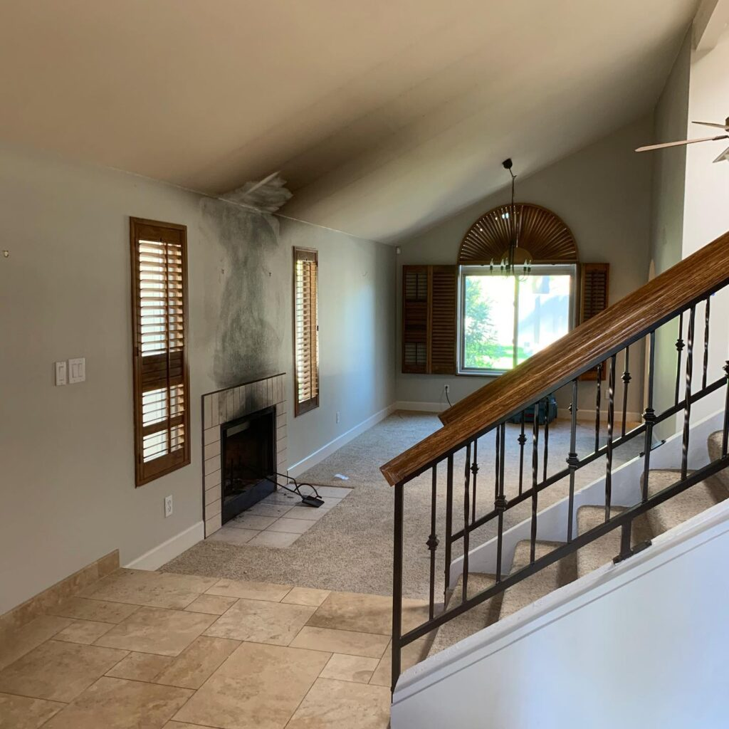 Smoke Damage is difficult to remove in any home