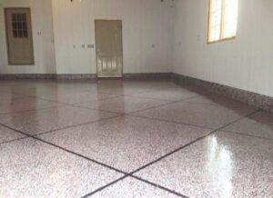 Custom Epoxy garage floor designs and colors - Nashville, TN