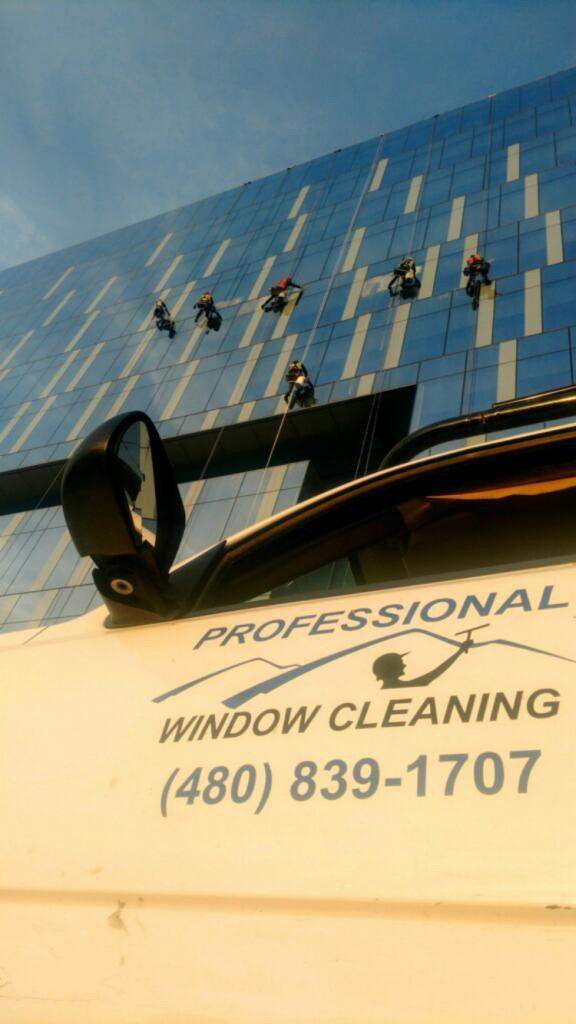 Professional Window Cleaning High Rise Post Construction Window Washing in Tempe, Scottsdale, Phoenix, Flagstaff, AZ & Denver CO